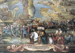 Ottomans_approach_Fort_St_Elmo_during_the_siege_of_Malta_1565-detail